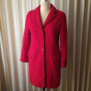 Barneys New York red wool coat